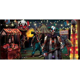 Halloween Banneri Scary Clown - Tarrat, bannerit ja muut - 21244 - 1