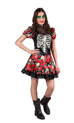 14-16V Day of the Dead Nina Catrina - Kauhu ja noidat - 20696 - 1